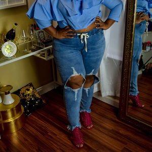 Denim - 👖 Plus Size Distressed Jeans